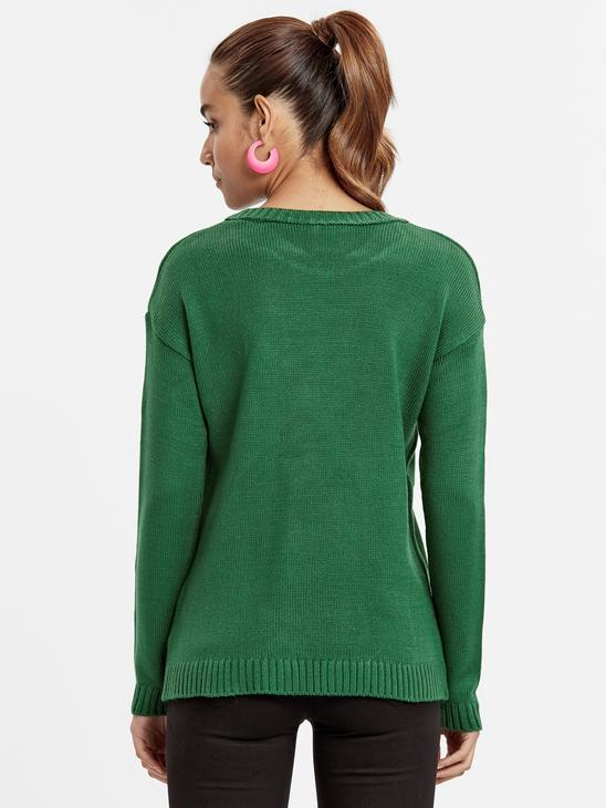 Green - Jumper - 8WG874Z8