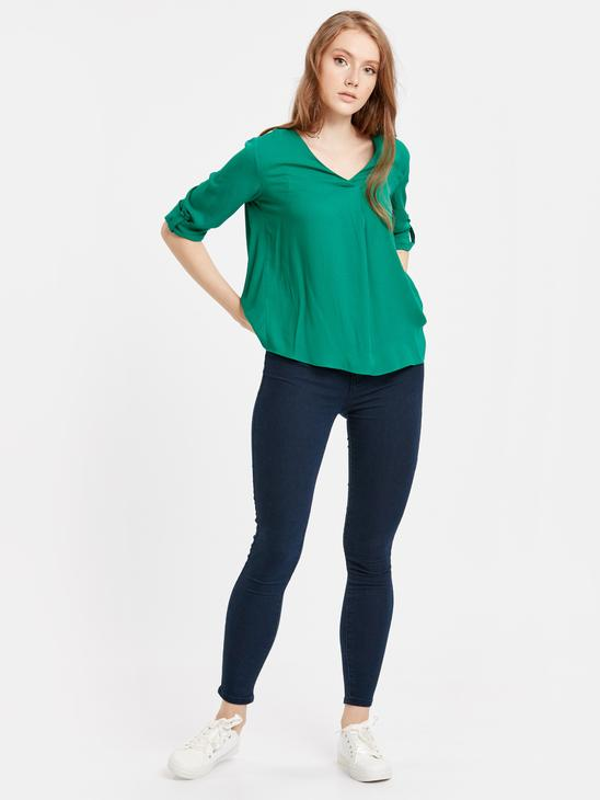 Green - Blouse - 8WJ641Z8