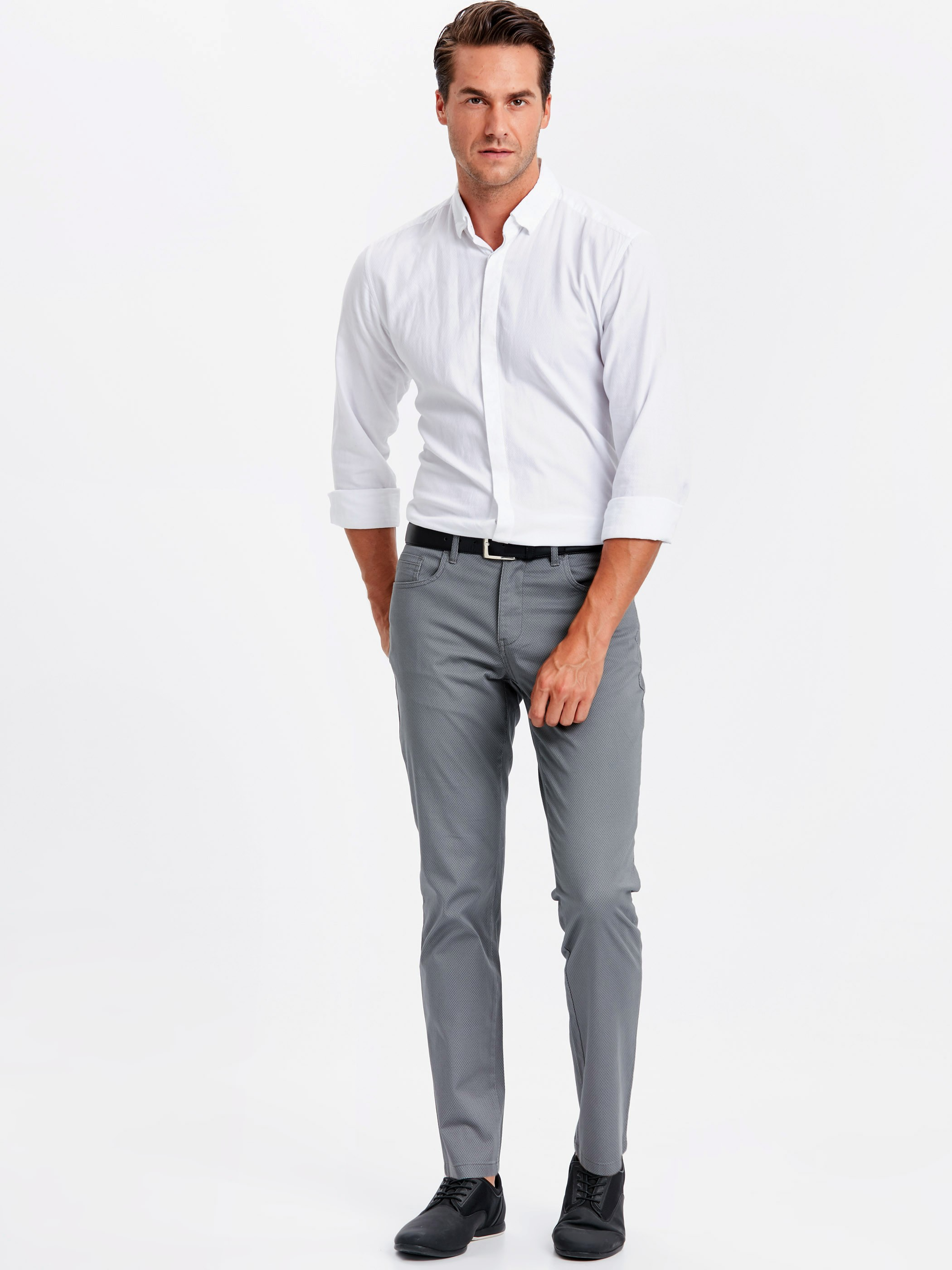 Grey - Trousers - 9S0831Z8